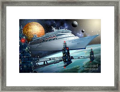 Space Ship Framed Print by Ciro Marchetti