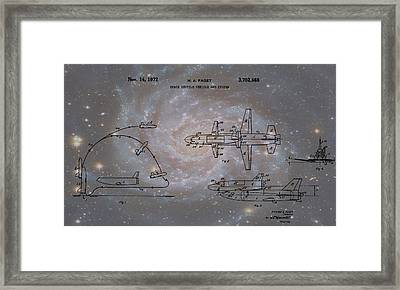 Space Shuttle And Capsule Patent Framed Print by Dan Sproul