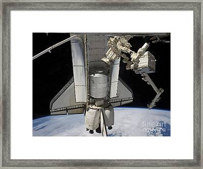 Space Shuttle Atlantis And Various Framed Print