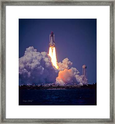 Space Shuttle Challenger Sts-6 First Flight 1983 Photo 1  Framed Print by Marie Hicks