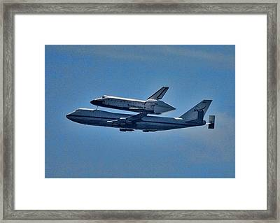 Space Shuttle Columbia Flies On 92112 Framed Print