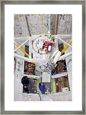 Space Shuttle Discovery Fuel Cell Framed Print by Frankie Martin/nasa