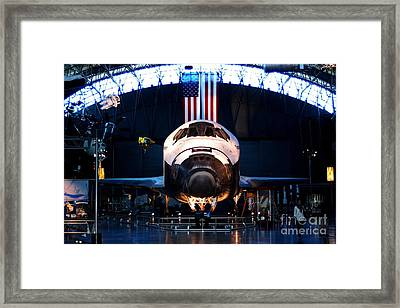 Space Shuttle Discovery Framed Print by Patti Whitten