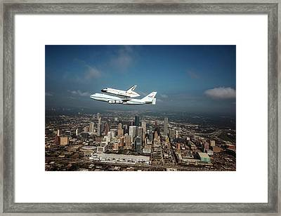 Space Shuttle Endeavour Piggyback Flight Framed Print