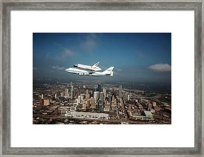 Space Shuttle Endeavour Piggyback Flight Framed Print by Nasa/sheri Locke