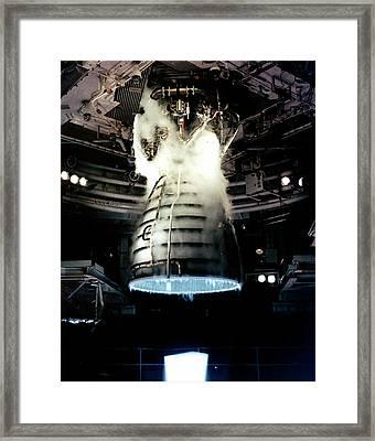 Space Shuttle Engine Testing Framed Print