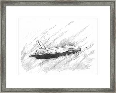 Space Shuttle Enterprise Framed Print by Michael Penny