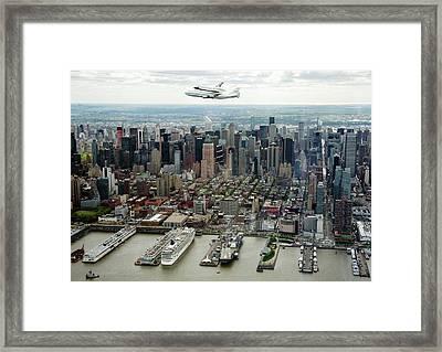 Space Shuttle Enterprise Piggyback Flight Framed Print by Nasa/robert Markowitz