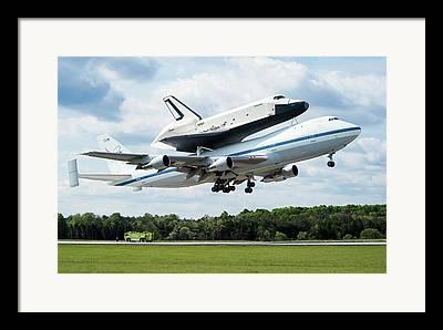 Space Shuttle Enterprise Framed Prints