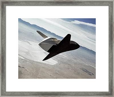 Space Shuttle Enterprise Test Flight Framed Print by Nasa