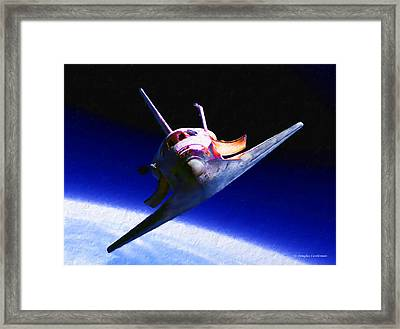 Space Shuttle Head On Framed Print