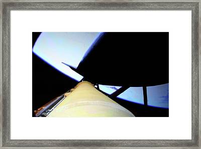 Space Shuttle In Orbit Framed Print by Detlev Van Ravenswaay