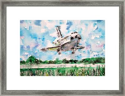 Space Shuttle Landing Framed Print by Fabrizio Cassetta