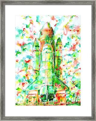 Space Shuttle - Launch Pod Framed Print by Fabrizio Cassetta