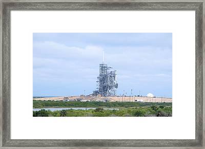 Space Shuttle Tower Framed Print