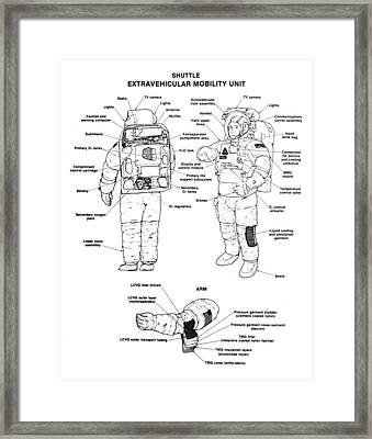 Space: Spacesuit, 1991 Framed Print by Granger