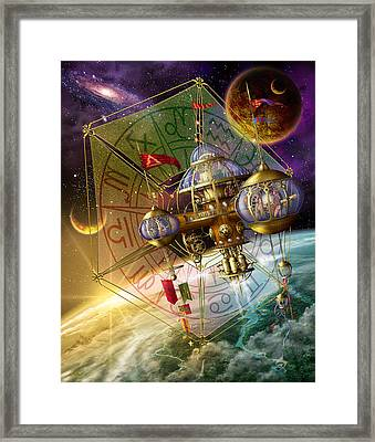 Space Station Framed Print by Ciro Marchetti