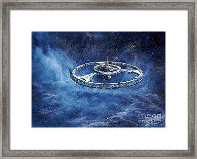 Deep Space Eight Station Of The Future Framed Print by Murphy Elliott
