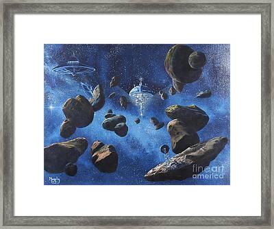 Space Station Outpost Twelve Framed Print by Murphy Elliott