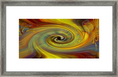 Framed Print featuring the digital art Space Tapestry by rd Erickson
