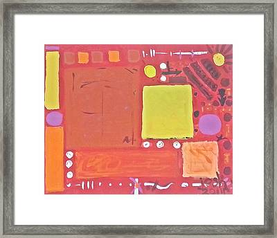 Space-time Food Fight Framed Print