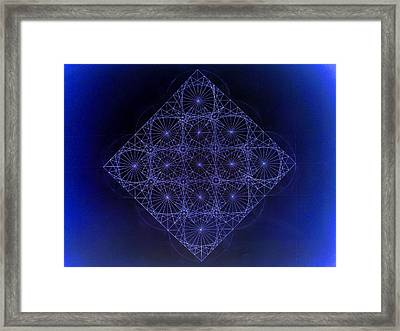 Space Time Sine Cosine And Tangent Waves Framed Print by Jason Padgett