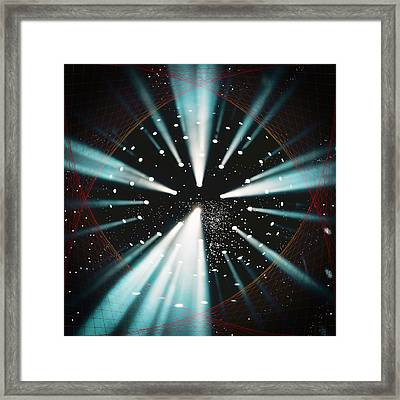 Space Time Warp Framed Print