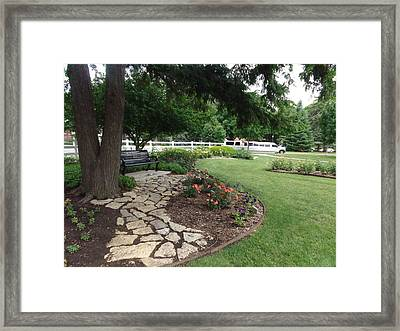 Space To Meditate Framed Print by Rose Clark