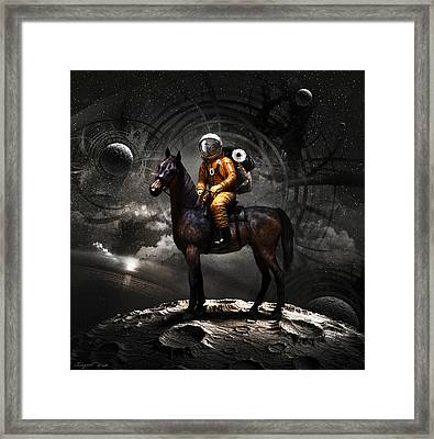 Framed Print featuring the digital art Space Tourist by Vitaliy Gladkiy