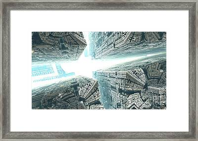 Space Travel Framed Print by Bernard MICHEL