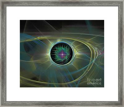 Space Travel Framed Print by Ursula Freer