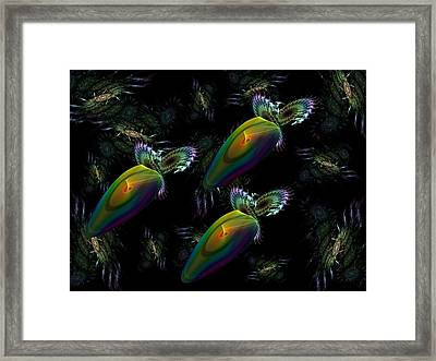 Space Trio Framed Print by Ricky Kendall