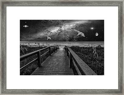 Space Walkway Framed Print
