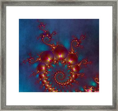 Space Worm Framed Print