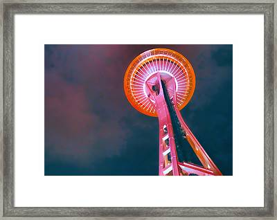 Spaced Needle Framed Print by Michael Wilcox