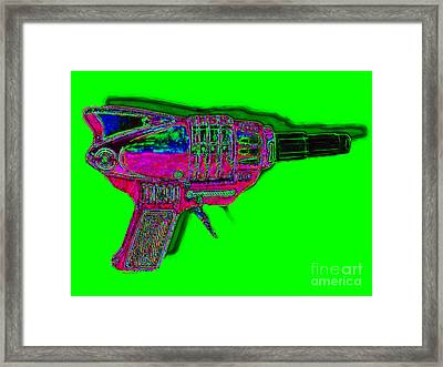 Spacegun 20130115v3 Framed Print by Wingsdomain Art and Photography