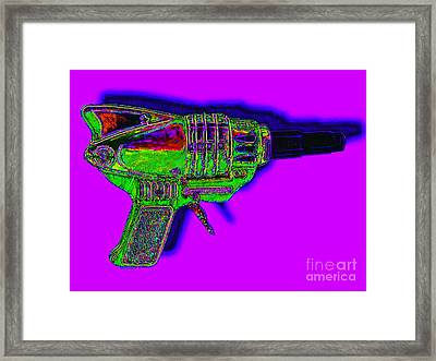 Spacegun 20130115v4 Framed Print by Wingsdomain Art and Photography