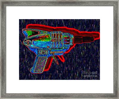 Spacegun 20130115v5 Framed Print by Wingsdomain Art and Photography
