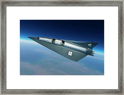 Spaceliner Transport Framed Print by Detlev Van Ravenswaay
