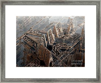 Spaceport Framed Print by Bernard MICHEL