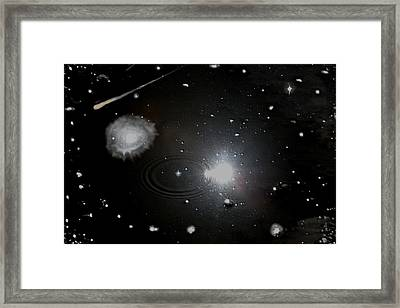Framed Print featuring the photograph Spacescape  by Christopher Rowlands