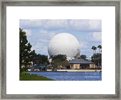 Spaceship Earth At Epcot Framed Print