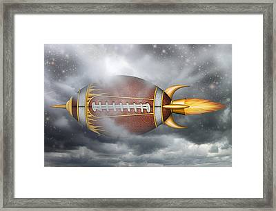 Spaceship Football Framed Print
