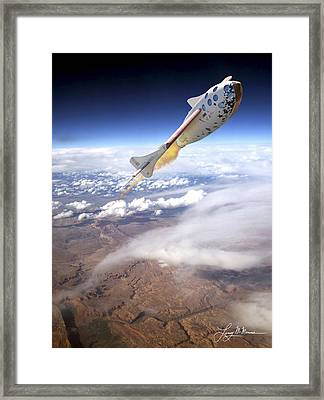 Spaceshipone Framed Print