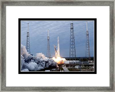 Framed Print featuring the photograph Spacex-2 Mission Launch Nasa by Rose Santuci-Sofranko