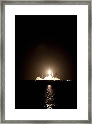 Spacex Crs-1 Launch Framed Print by Nasa
