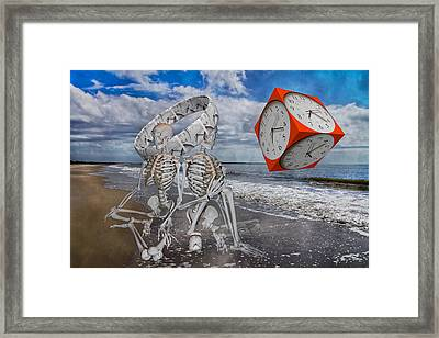 Spacexmatterxtimexx Framed Print by Betsy Knapp