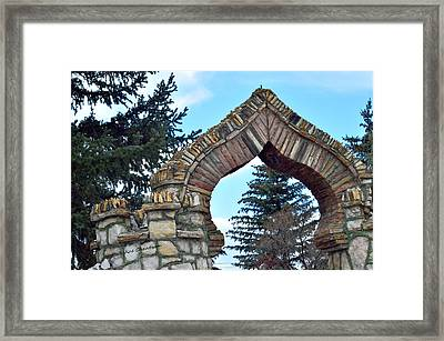 Spade Shaped Archway Framed Print