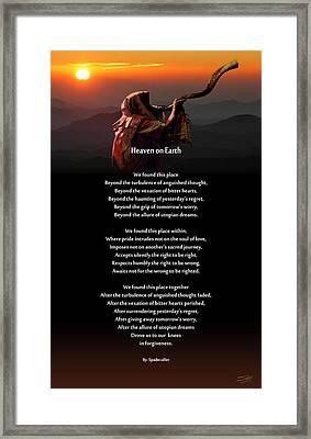 Spadecaller's Heaven On Earth Poster Framed Print