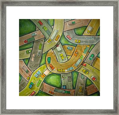 Spaghetti Junction Framed Print by Rhodes Rumsey